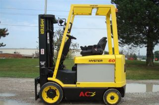 Hyster 6000 Lb Capacity Electric Forklift Lift Truck Recondtioned Bat 2495 Hours photo