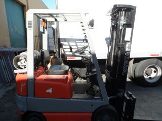 1996 Toyota Forklift 42 - 6fgcu15 Lp,  3,  000 Lbs Capacity,  3 Stage photo