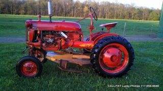 Farmall Cub Lo Boy International Tractor Ih Antique Vintage Mower 1960 10hp photo