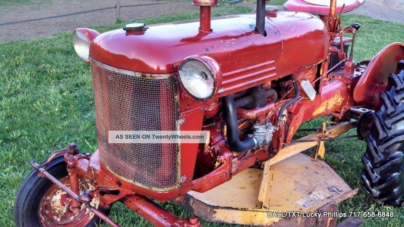 Farmall Cub Lo Boy International Tractor Ih Antique Vintage Mower Hp Lgw