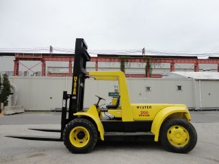 Hyster 20,  000 Lbs Pneumatic Forklift Lift Truck Propane photo