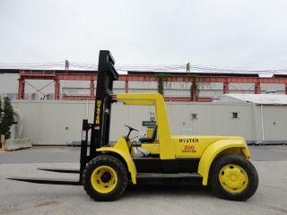 Hyster 20,  000 Lbs Pneumatic Forklift Lift Truck Propane photo