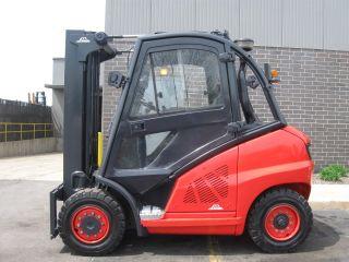 Linde H40d 8000 Lb Capacity Forklift Lift Truck Pneumatic Tire Cab W/heat photo