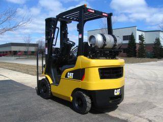 2008 Caterpillar 4000 Lb Capacity Forklift Lift Truck Pneumatic Tire 1200 Hours photo
