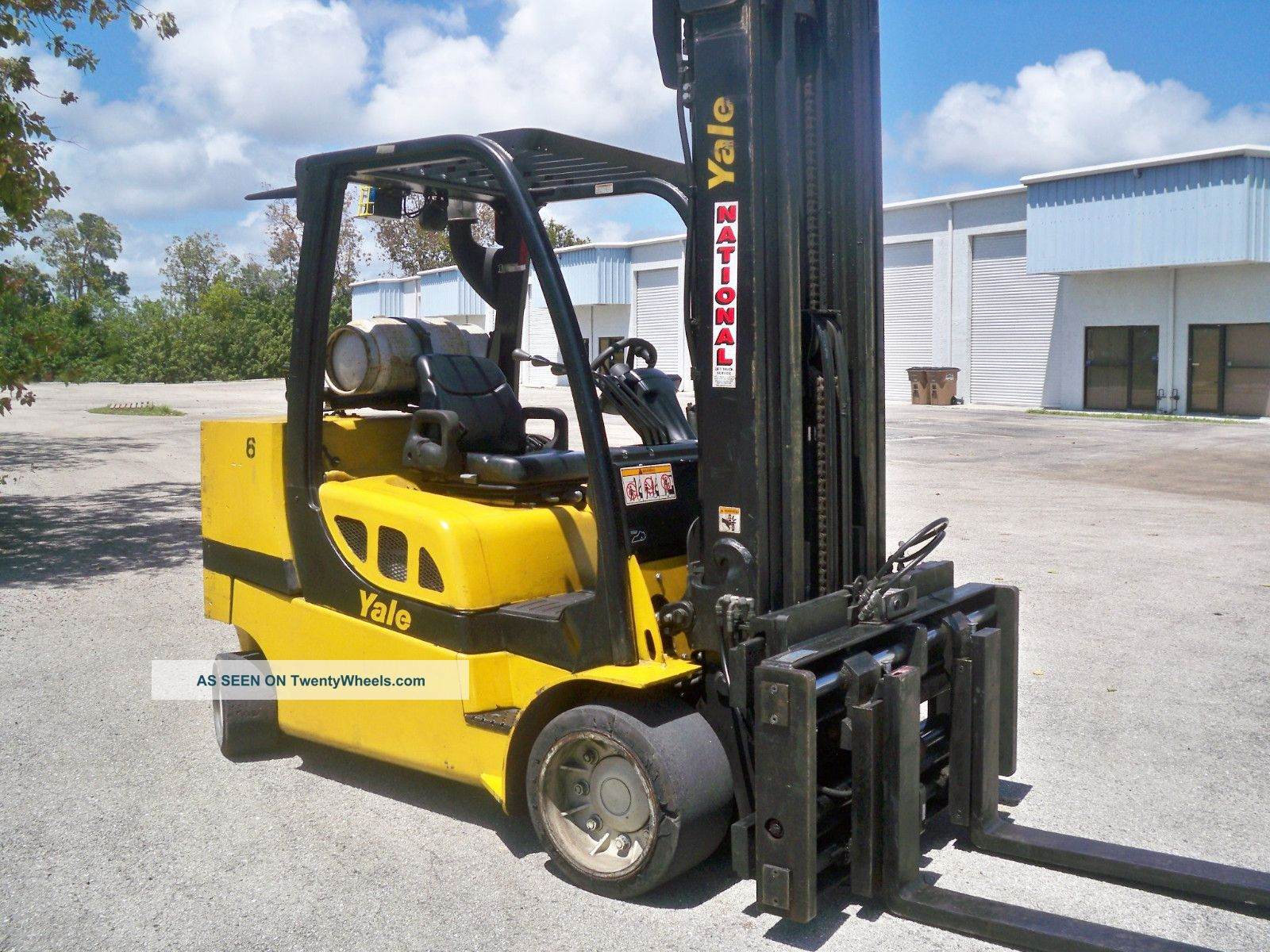 2008 Yale Glc120 Forklift 12,  000 Lb Lift Truck 12000 Lbs / Lpg Propane Forklifts photo