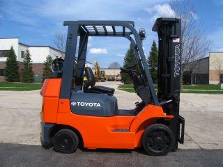 2005 Toyota 7fgcu25 Forklift 5000lb Lift Truck Hi Lo Cushion Tires photo