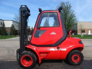 Linde H45d 10000 Lb Capacity Forklift Lift Truck Pneumatic Tire Cab W/heat photo