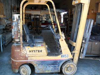 Hyster Forklift Model S30a Lift 15ft Capacity 2,  000 Lbs Auto Trans.  Propane photo