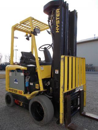 2007 Hyster E50z - 27 5000lb Forktruck Quad Fork Forklift Hilo Yale Lift Yale photo
