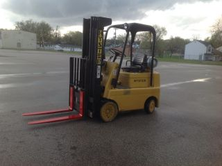 Hyster S50c 5000lb 4 Stage Quad Mast Hyster Cushion Forklift Truck photo
