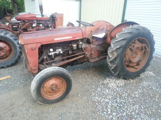 1960 Massey Ferguson 35 Diesel Tractor Powertorque Wheels And Aux Hydraulics photo