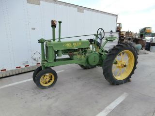 Antique 1938 B John Deere Tractor photo