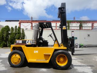 Caterpillar Forklift V180 18,  000 Lbs Diesel Fork Positioners Fork Lift Truck photo