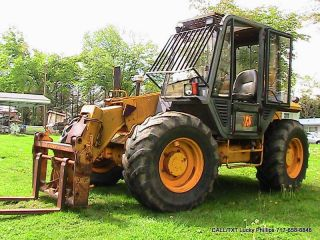Jcb 505 - 19 T Telehandler Loader Fork Lift 4x4 All Wheel Steer Cab Heat photo