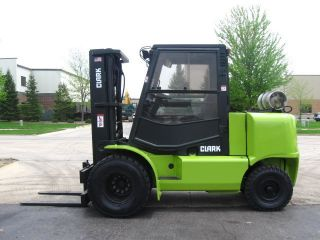 Clark Cmp50 11000 Lb Capacity Forklift Lift Truck Enclosed Heated Cab Lp Gas photo