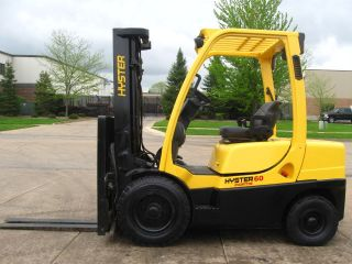 Hyster H60ft 6000 Lb Capacity Forklift Lift Truck Solid Pneumatic Tire Triple photo