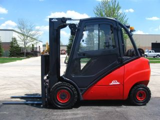 2005 Linde H30t 6000 Lb Capacity Forklift Lift Truck Closed Heated Cab Pneumatic photo