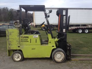 Clark C500s 100 Forklift 6750 Capacity With Side Shift And Auxillary photo