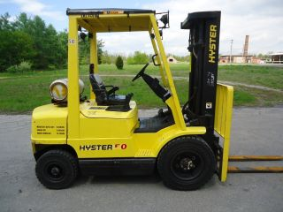 2004 Hyster H50xm Pneumatic Forklift Fork Truck 10000lb Yale Diesel photo
