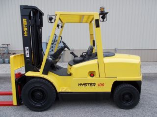 2004 Hyster 10000 Lb Capacity Forklift Lift Truck Pneumatic Tire Side Shifter photo