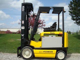 Yale 6000 Lb Capacity Electric Forklift Lift Truck Quad Mast 276