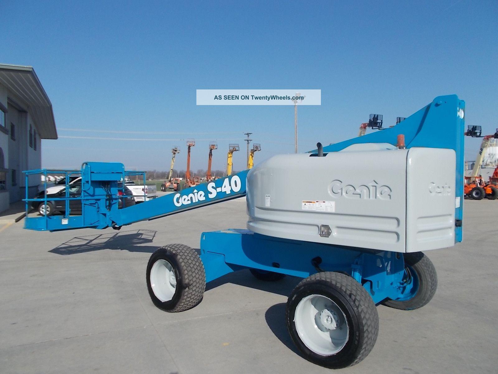 Single Man Lift 40 Ft : Genie s aerial manlift boom lift man boomlift