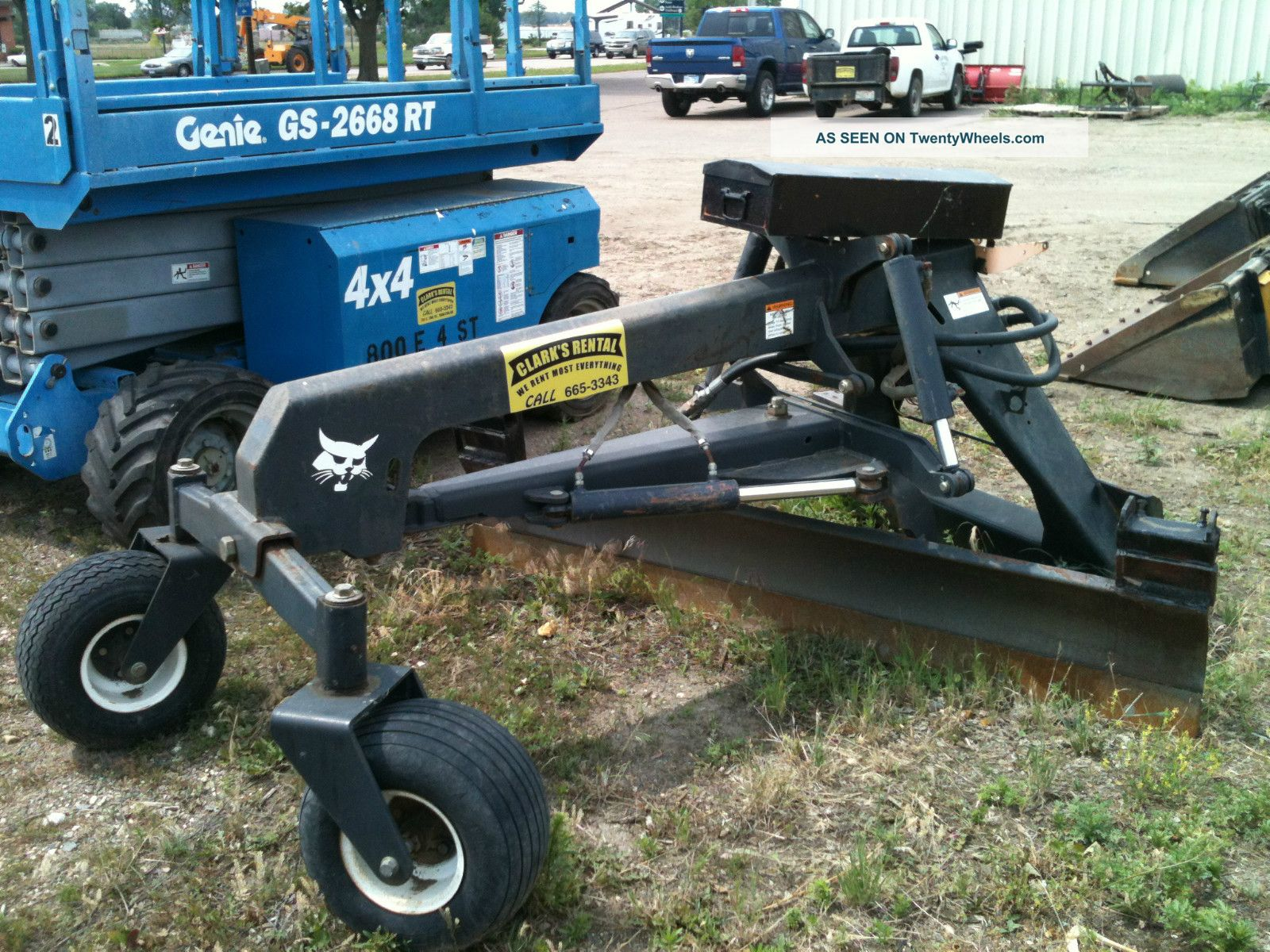 7 Foot Skidloader Grader Attachment Fits Bobcat And Others With Remote Control Skid Steer Loaders photo