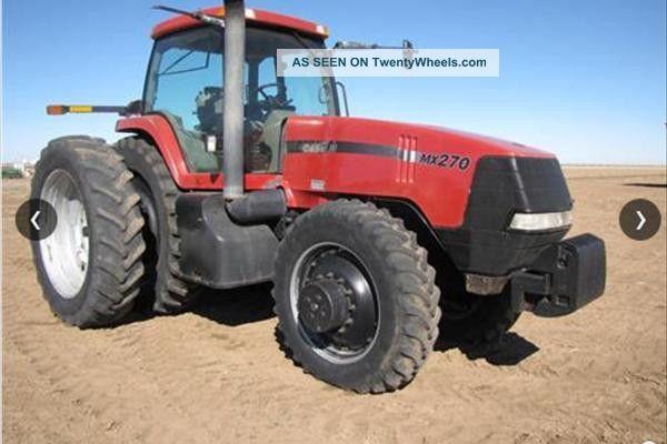2001 Case Ih Mx270 Tractor Tractors photo