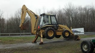 1996 Cat Ceterpillar 416 B Diesel 4 Wd 4x4 Tractor Loader Backhoe Excavator photo
