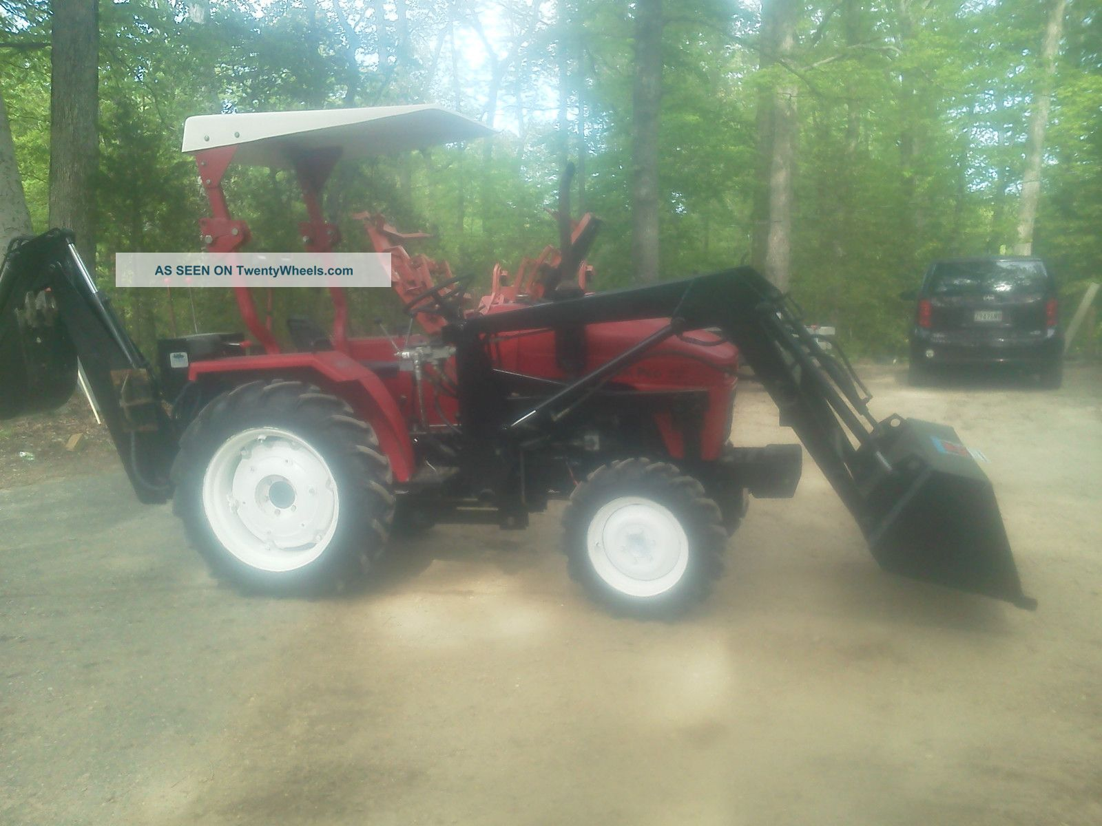2003 Nortrac Jimma Farm Pro 2425 Tractor, Front End Loader, Backhoe  Attachment