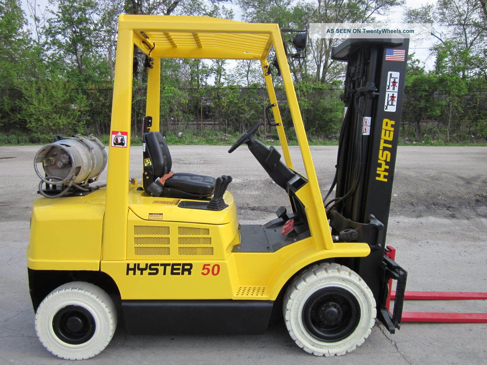 2005 Hyster H50xm Forklift Lift Truck Hilo Fork,  Pneumatic 5,  000lb Lift Yale Forklifts photo