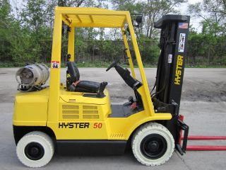 2005 Hyster H50xm Forklift Lift Truck Hilo Fork,  Pneumatic 5,  000lb Lift Yale photo