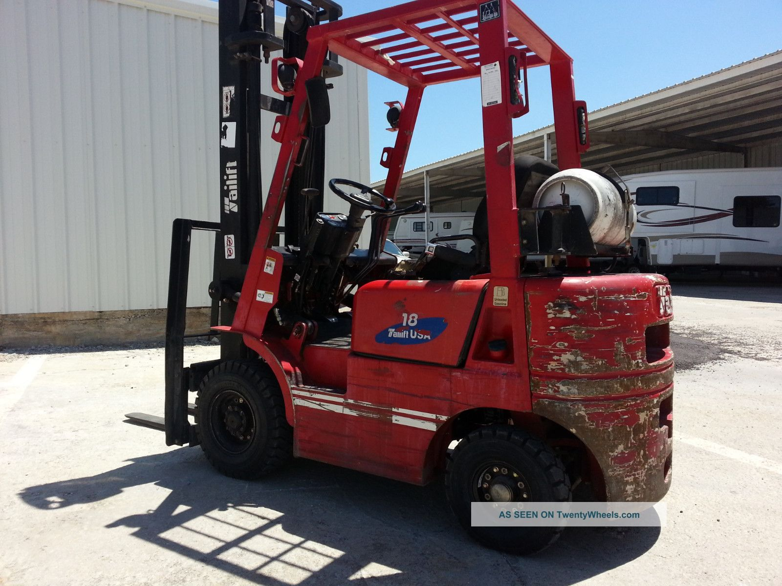 3500lb.  Capacity All Terain Forklift Forklifts photo