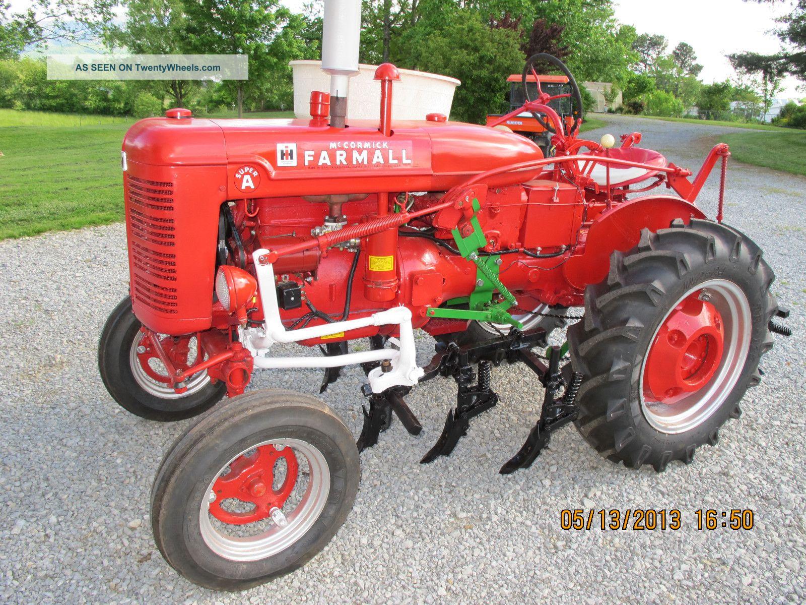 Farmall Super A Cultivator : Nicely restored farmall a farm and garden tractor