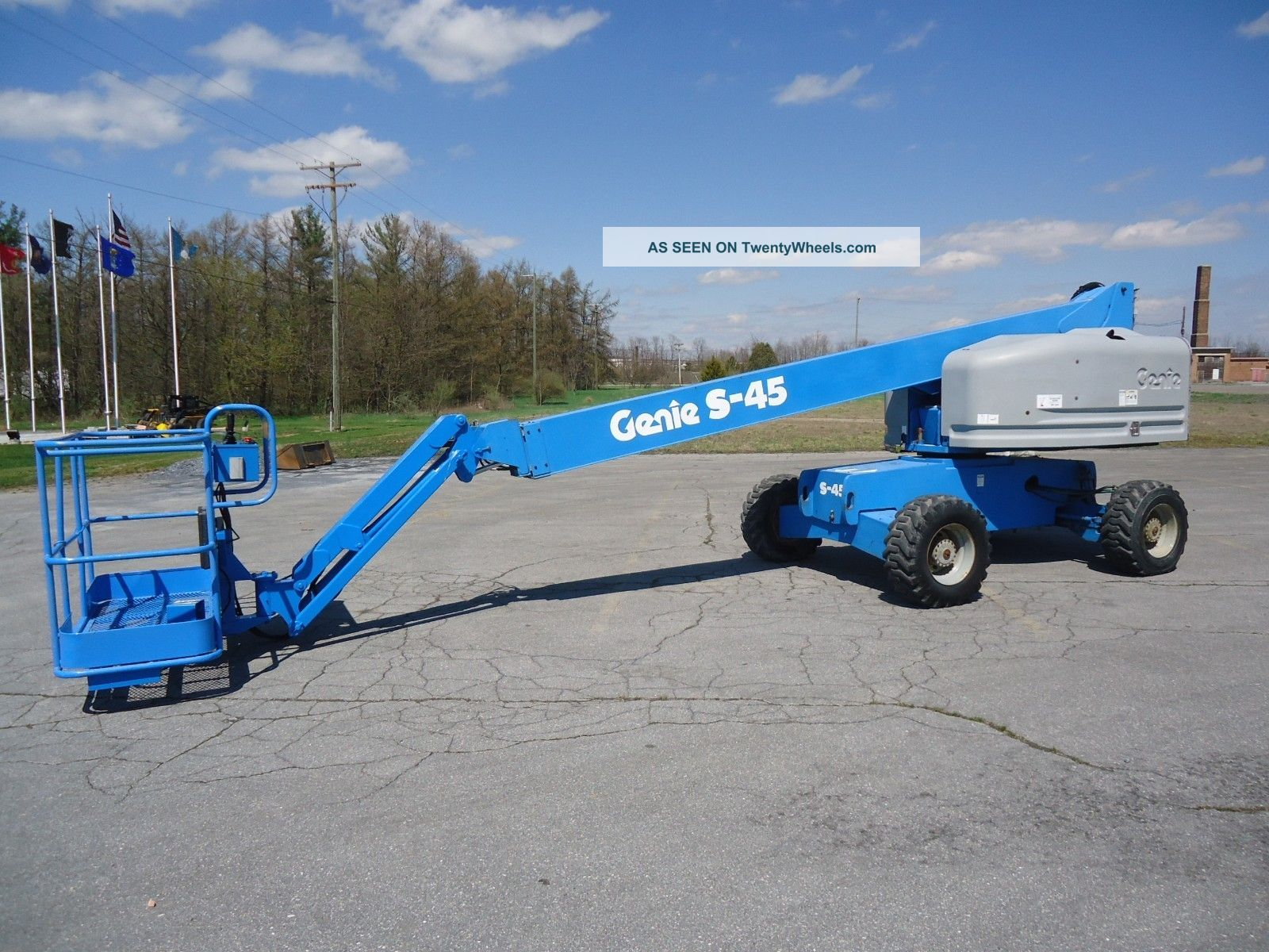 1999 Genie S45 Telescopic Boomlift Manlift Man Lift Aerial Platform Boom Scissor & Boom Lifts photo