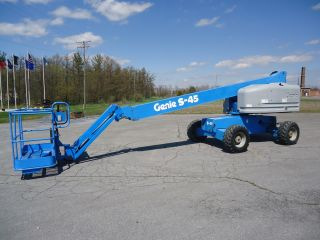 1999 Genie S45 Telescopic Boomlift Manlift Man Lift Aerial Platform Boom photo