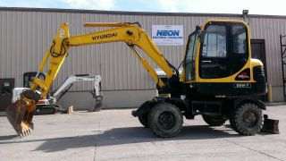 2005 Hyundai Robex 55w - 7 Wheel Excavator 1190 Hours 55 - 7 Mini Bobcat 337 341 photo