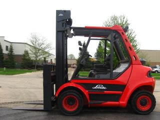2005 Linde 15000 Lb Capacity Forklift Lift Truck Solid Rough Terrain Tires photo
