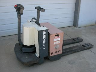 Barrett Ride - On Electric Pallet Jack,  6,  000 Capacity And Cen 80 Charger photo