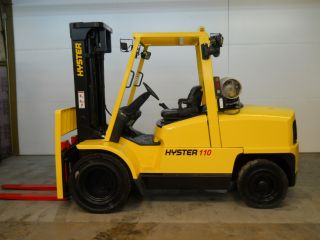 Hyster 11000 Lb Capacity Forklift Lift Truck Dual Pneumatic Tire 48