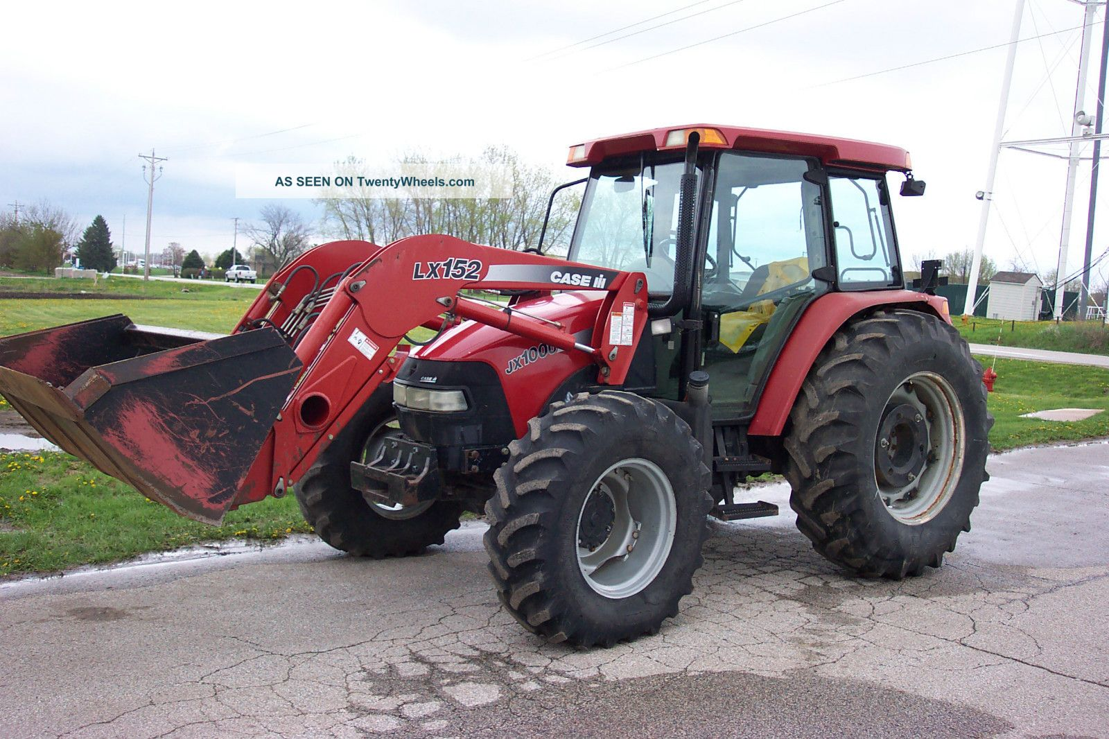 Ih Tractor Loaders : Case ih tractor jx u with lx loader and bucket