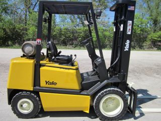2003 Yale Glp060 Forklift Lift Truck Hilo Fork,  Pneumatic 6,  000lb Lift Yale photo