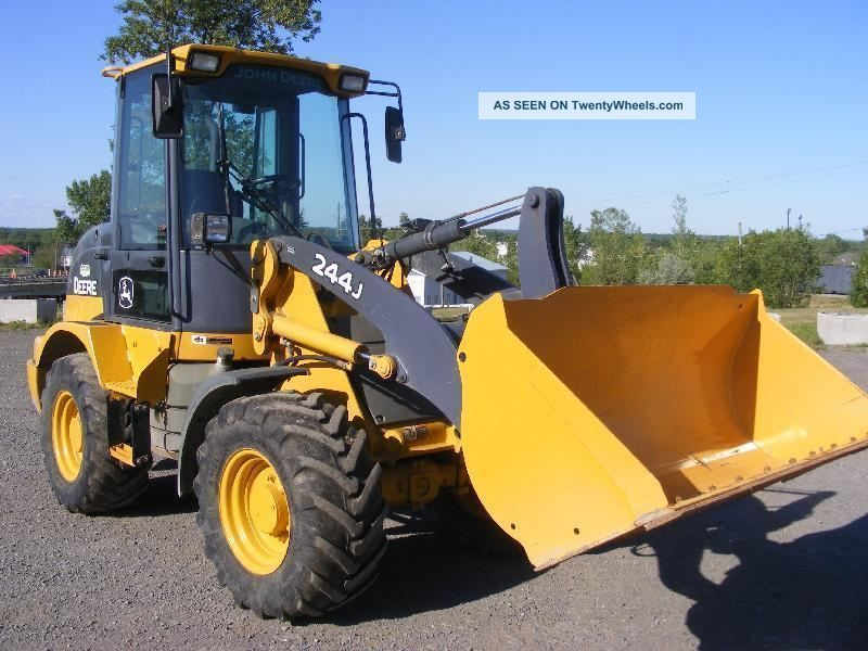 John Deere 244j Attachments : John deere jd j wheel loader tractor