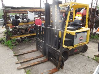 Hyster E60z - 33 Forklift W/ 2 Sets Of Forks photo