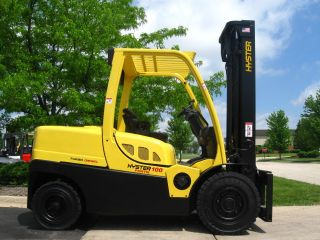 2009 Hyster H100ft Forklift 10000lb Pneumatic Diesel Lift Truck photo