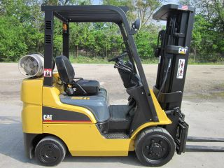 2008 Mitsubishi Fgc25n Propane Forklift Lift Truck Fork Caterpillar Cat photo