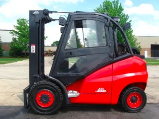 2007 Linde H50t 11000 Lb Capacity Forklift Lift Truck Enclosed Heated Cab photo