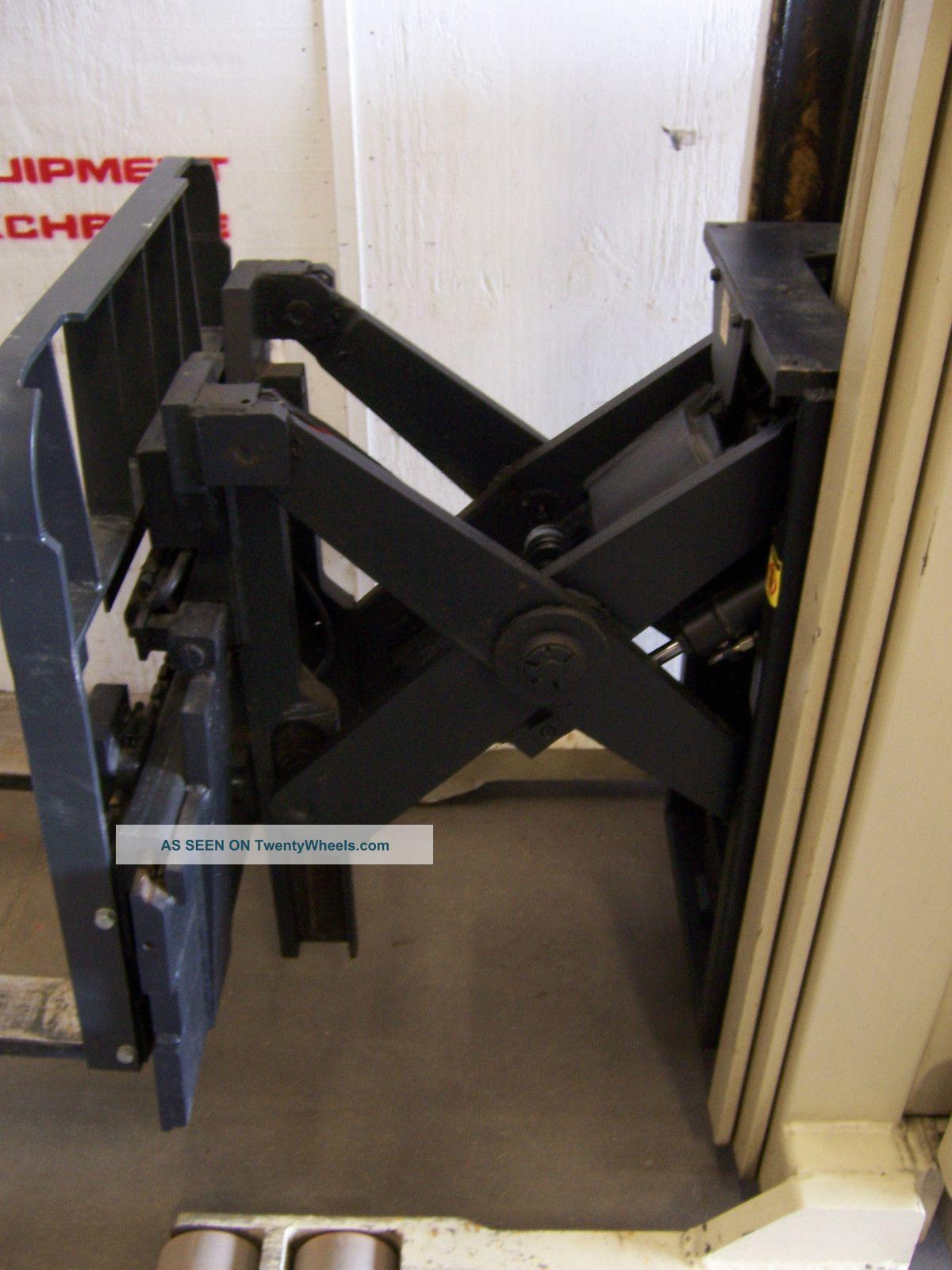 Four Way Side Loader Forklift Mitsubishi Rbm2025k Series: 7138 Crown Stand Up Reach Fork Lift W/ Side Shift & Tilt
