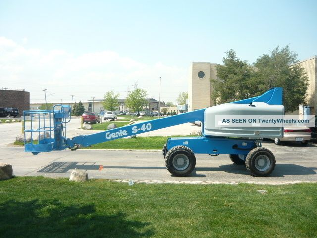 2004 Genie S - 40 4x4 Boomlift Manlift Telescopic Aerial Deutz Diesel Serviced Scissor & Boom Lifts photo