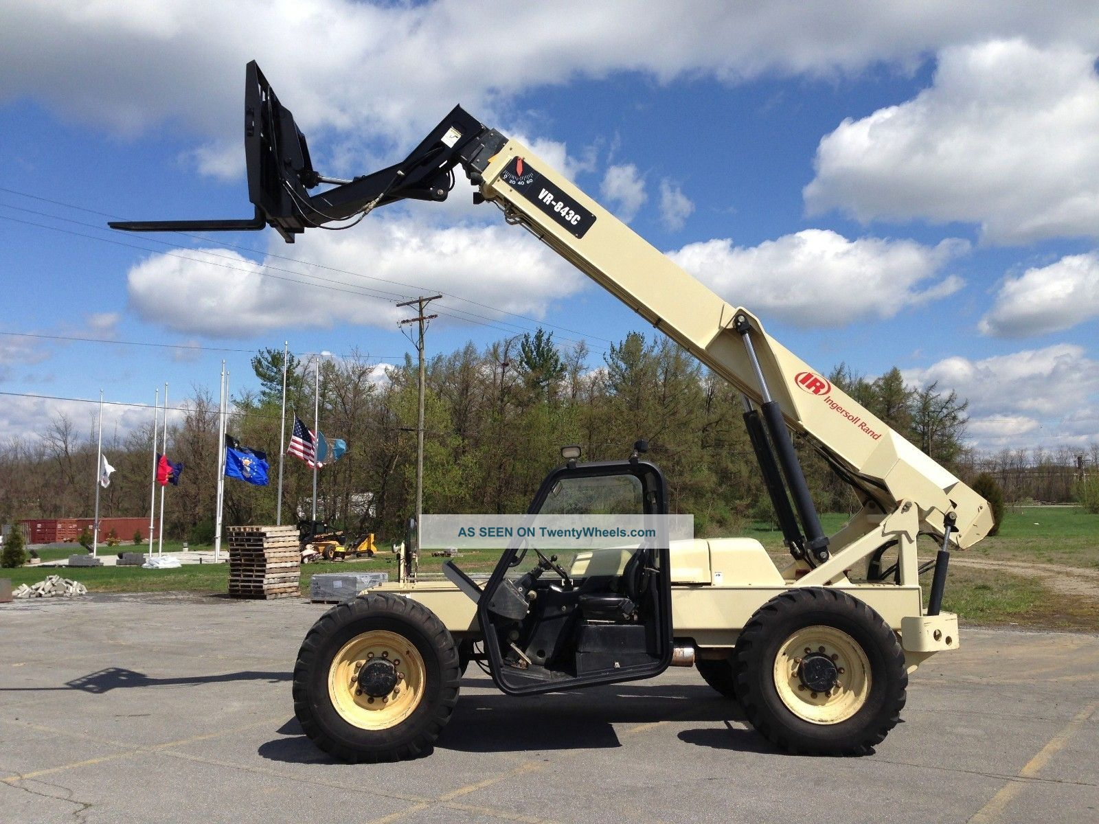 2007 Ingersoll - Rand Vr - 843c Telescopic Forklift Telehandler Lull Reach Fork Scissor & Boom Lifts photo